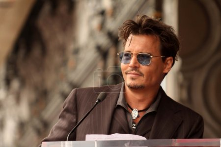 Photo for Johnny Depp at the Jerry Bruckheimer Star on the Hollywood Walk of Fame ceremony, Hollywood, CA 06-24-13 - Royalty Free Image