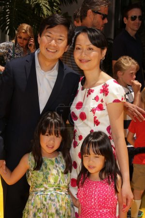 Ken Jeong and family