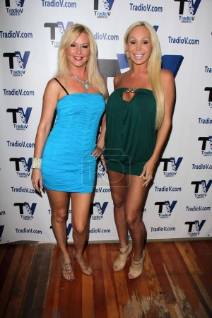 """Photo for Beverly Lynne, Mary Carey on the set of """"Politically Naughty with Mary Carey,"""" TradioV Studios, Los Angeles, CA 09-16-13 - Royalty Free Image"""