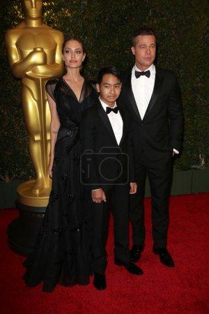 Angelina Jolie, Maddox Jolie Pitt, Brad Pitt