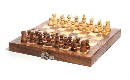 Photo for Chess set isolated on white background - Royalty Free Image