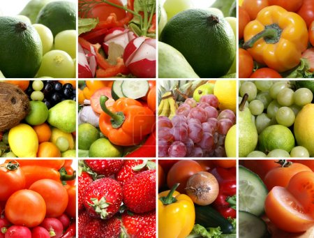 Photo for Nutrition collage of nine pictures - Royalty Free Image