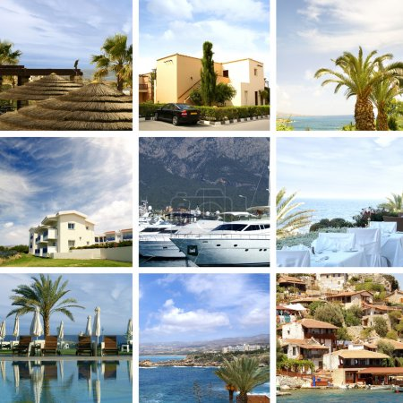 Resort collage made of some beautiful pictures