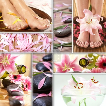 Photo for Collage of some spa pictures - Royalty Free Image