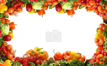 Photo for Different fresh tasty vegetables isolated fractal - Royalty Free Image