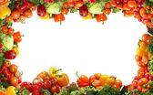 """Постер, картина, фотообои """"Свежие вкусные овощи фрактал"""""""