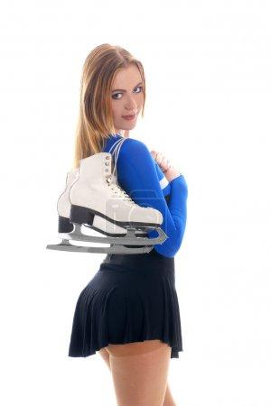 Photo pour Femme patinage de glace sexy - image libre de droit