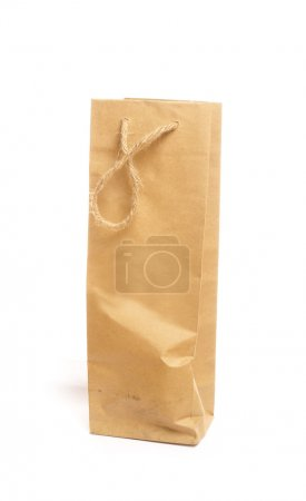 Paper bag isolated on white