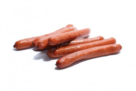 Sausages isolated on white.