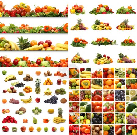 Photo for Set of different nutrition elements. Necessary for food designs. - Royalty Free Image