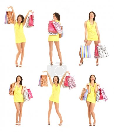 Attractive woman doing shopping