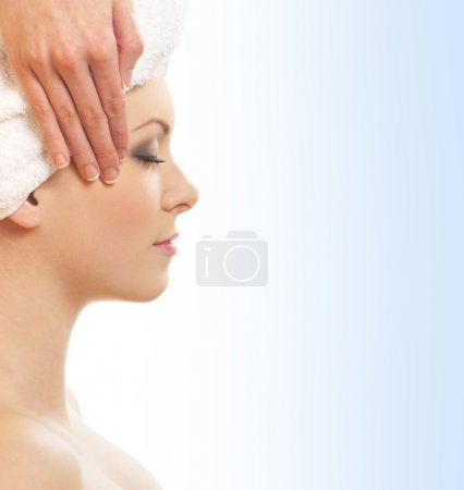 Beautiful and healthy woman getting spa treatment