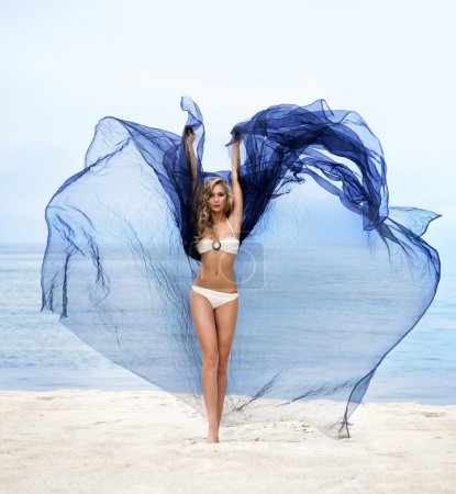 Woman on summer beach