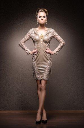 Rich woman in jewels