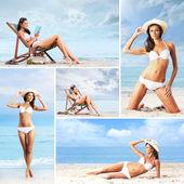 Ollection různých obrázků s krásné modely