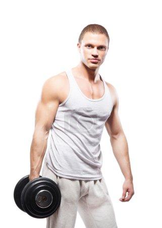 Sporty bodybuilder man