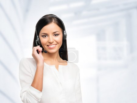 Young female customer support operator