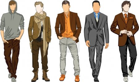 Illustration for Fashion men - Royalty Free Image