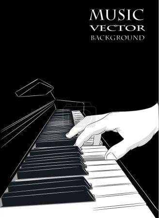 Illustration pour Piano jouer - vector - image libre de droit