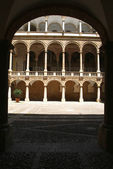 sight of the internal courtyard The Normans'l Palace in Palermo, Sicily.