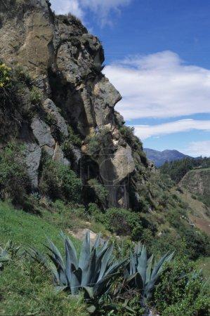 Rock like a face at Ingapirca, Ecuador