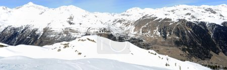 View at mount Gotthard on the Swiss alps