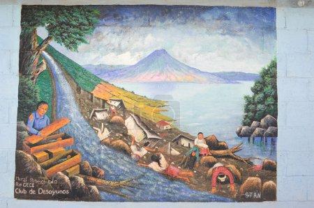 Photo for Maya painting at the village of San Juan la laguna on Guatemala - Royalty Free Image
