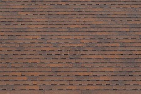 Photo pour Fond de texture pour le bardeau toit brun rouillé. - image libre de droit