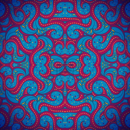 Seamless abstract square folk-style ornament