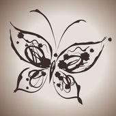 Grunge eleganci inkoust úvodní obrázek s motýl