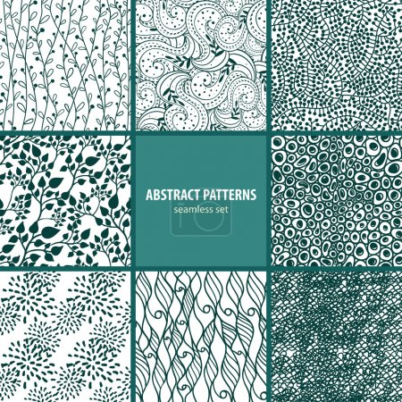 Illustration for Seamless patterns collection - Royalty Free Image