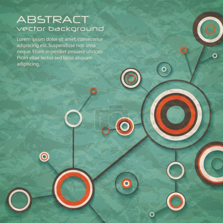 Illustration for Abstract retro background of science with circles and lines. eps10 - Royalty Free Image