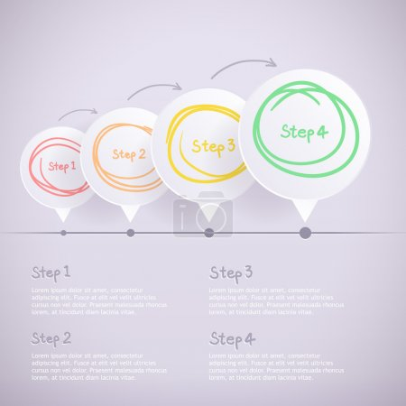 Abstract design background. Speech bubble round frame for Infographics.