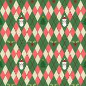 Vector christmas pattern with rhombus