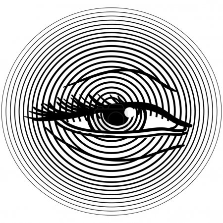 Waking human eye