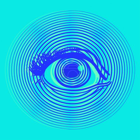 Opening human eye