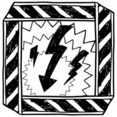 Electrical hazard warning sketch