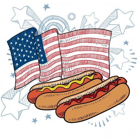 American hot dogs sketch