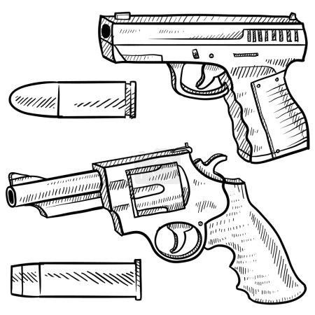 Handguns sketch