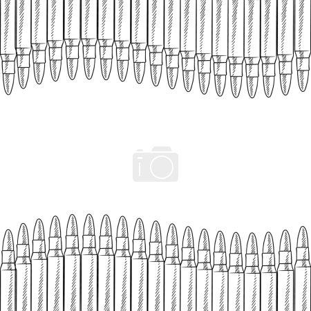 Seamless bullet vector border