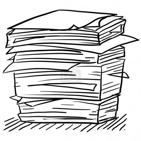 Illustration pour Illustration de la paperasserie de style Doodle en format vectoriel - image libre de droit