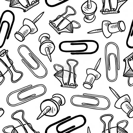 Seamless office supplies vector background