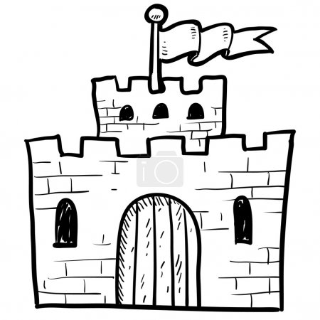 Castle or fort sketch