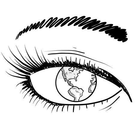 Global perspective vector sketch