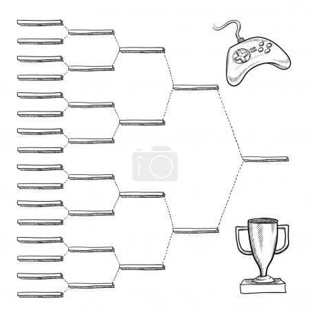 Blank video game tournament bracket