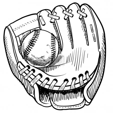 Baseball glove sketch
