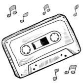 Cassette tape sketch