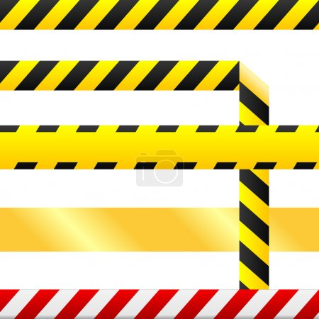 Blank caution tape vector