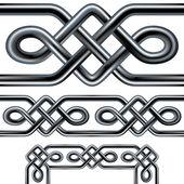 Zökkenőmentes kelta kötél vector-határok és minták