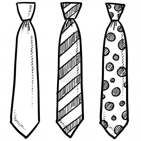 croquis de la cravate